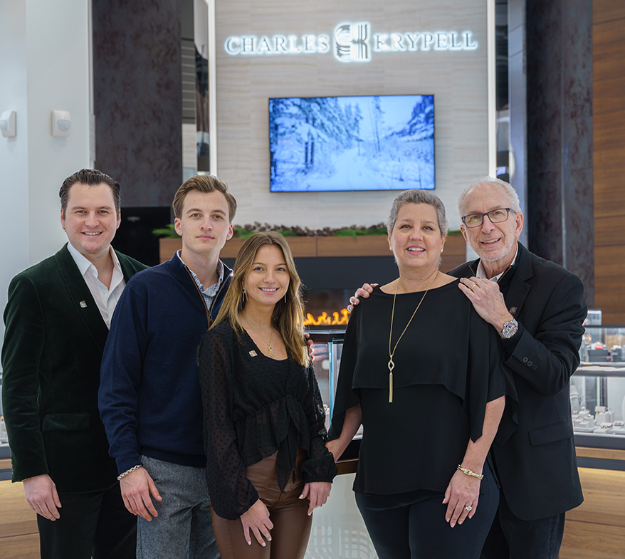 From left, Evan Krypell, Tyler Krypell, Halle Krypell, and owners Debbie Krypell and Charles Krypell are the family members involved in the retail operation.