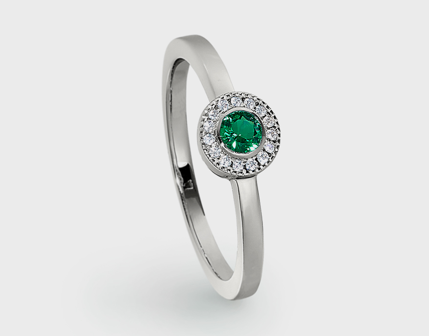Kelly-Waters Sterling silver ring with simulated gemstones.