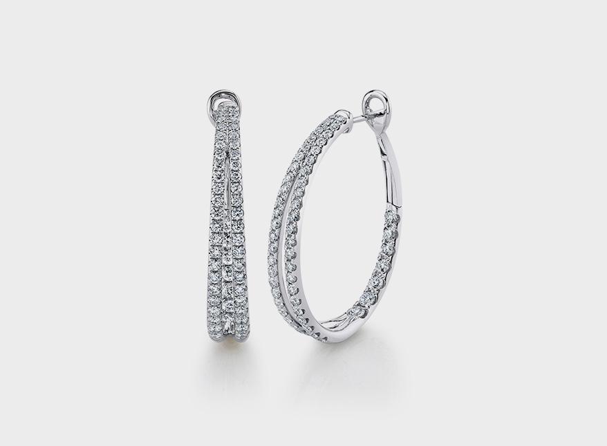 Diamond Eternal split hoop earring by Shy Creation