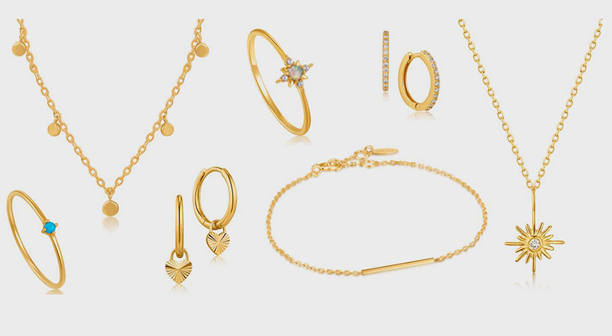 Ania Haie Launch Solid 14K Gold and Diamond Collection