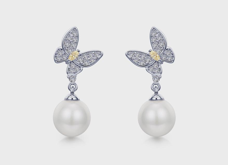 Lafonn Platinum-bonded sterling silver earrings