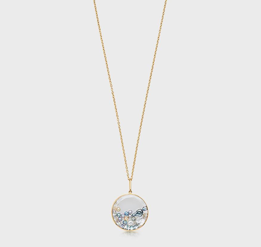 Moritz Glik 18K yellow gold pendant necklace