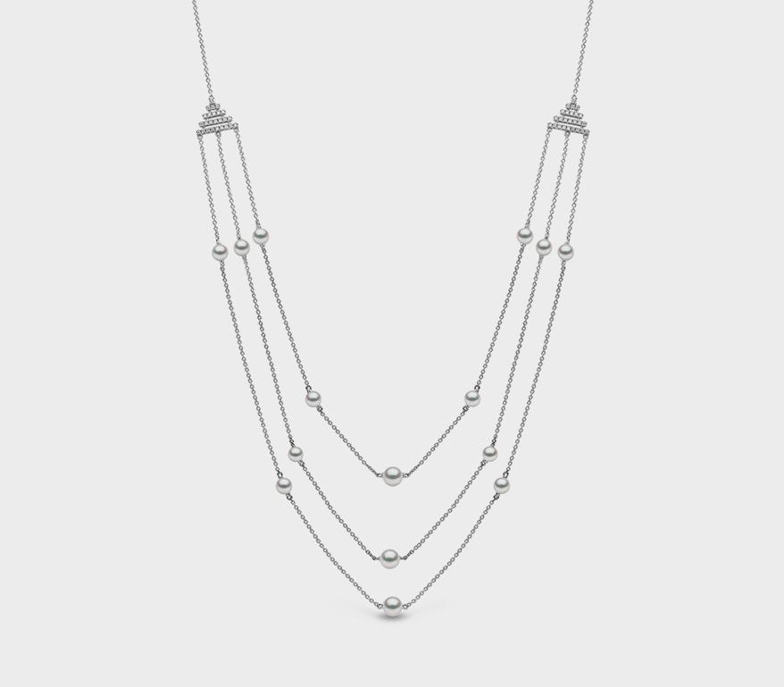 Yoko London 18K white gold necklace