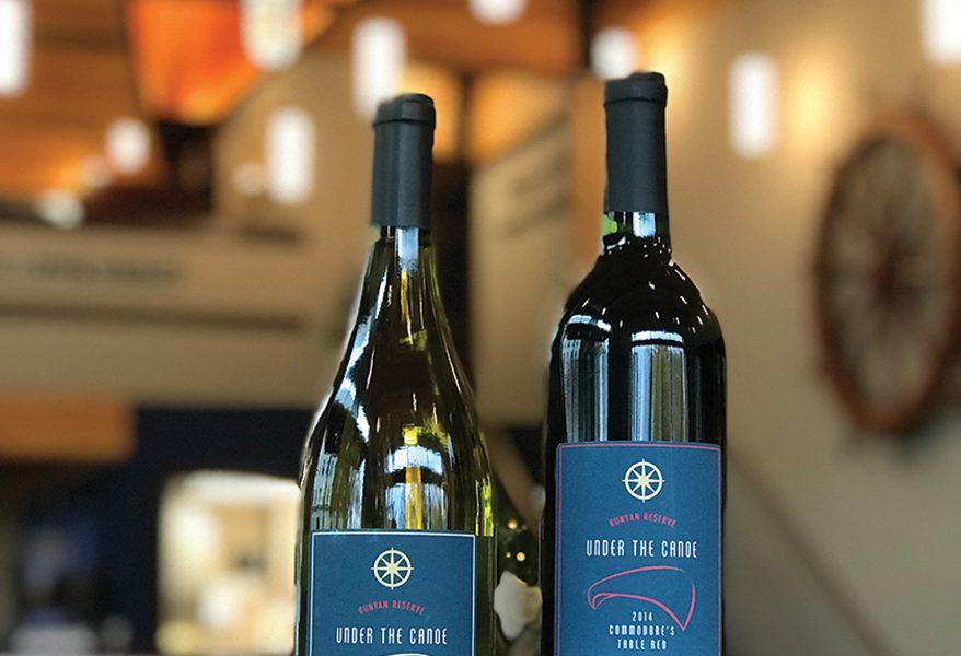 2 wine bottles
