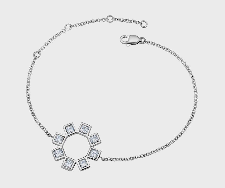 Misahara Jewelry  18K white gold bracelet with diamonds