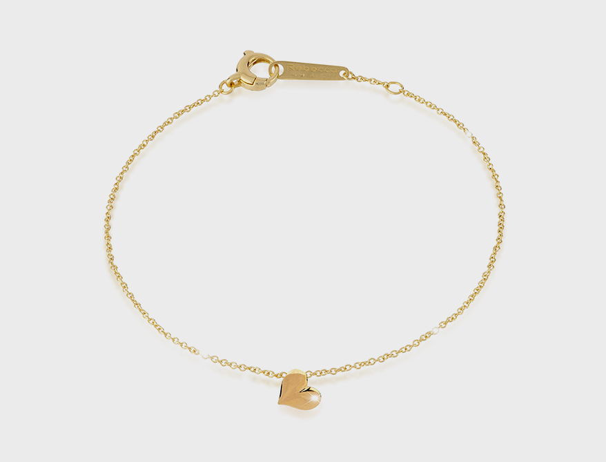 Rebecca  Sterling silver and 24K yellow gold bracelet.