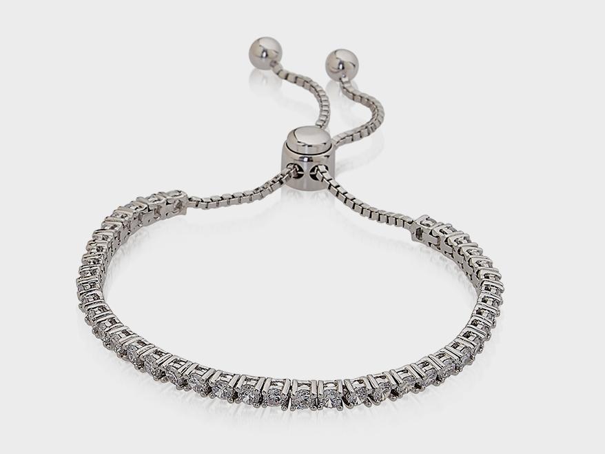 Sterling Reputation  Sterling silver bracelet with CZ.