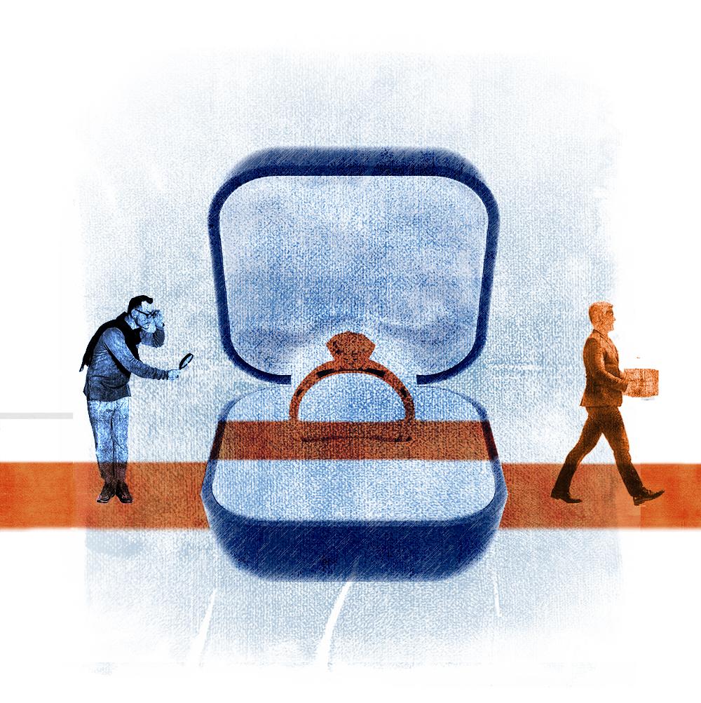 illustration of bridal ring