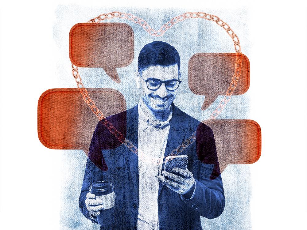 illustration of loyal customer online