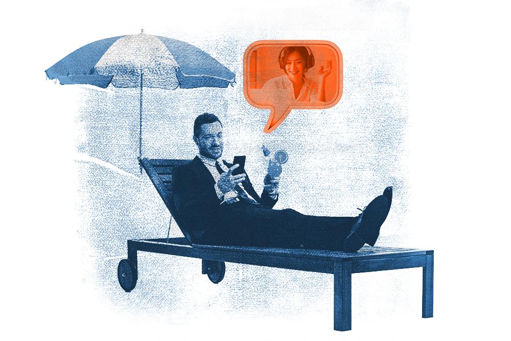 man on the phone illustration