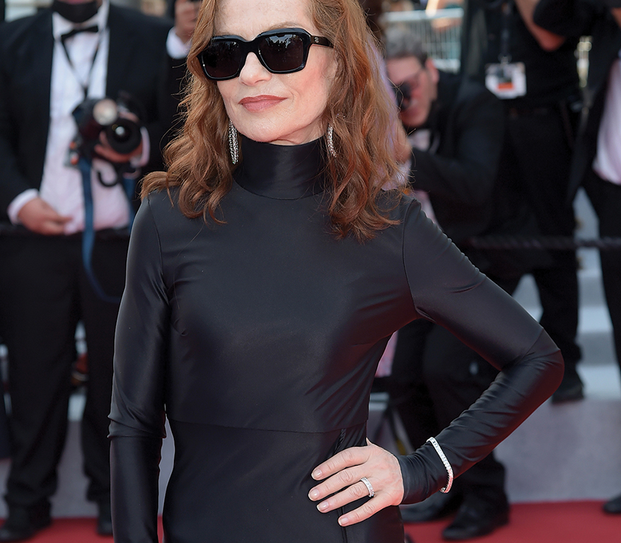 Isabelle Huppert at the 2021 Cannes Film Festival. Photo courtesy of Shutterstock.
