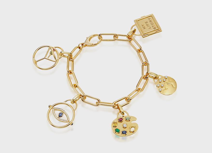 Gumuchian  18K yellow gold charm bracelet