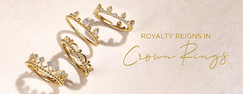 Royalty Reigns in Crown Rings